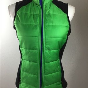 Ralph Lauren Active Green Black Nylon Vest XS